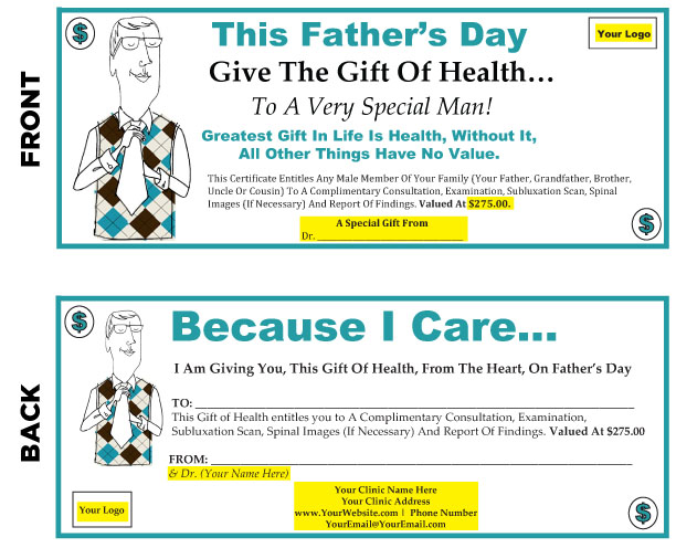 Fathers Day Gift Certificates Cmi