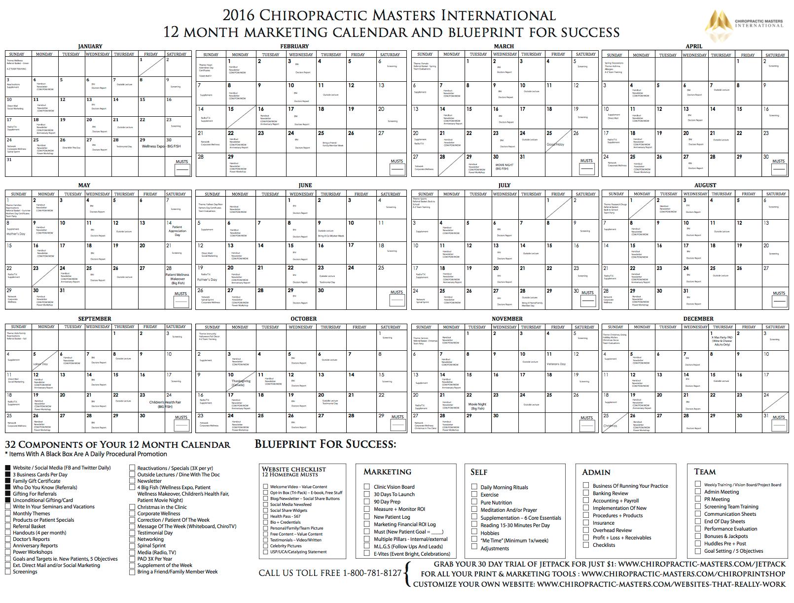 Monthly Marketing Calendar : Marketing calendar one time offer cmi